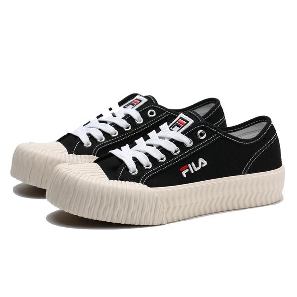 FILA 餅乾鞋 黑 基本款 刺繡 休閒鞋 情侶鞋 男女 (布魯克林) 4C910T011