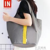 外出手提袋子時尚帆布環保購物袋大容量超市買菜袋子便攜防水摺疊【小艾時尚】