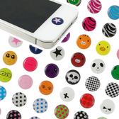 Apple 可愛時尚 iPhone/ipad/ipod 按鍵貼/裝飾貼/home鍵貼/6枚入