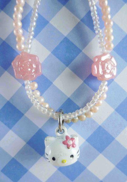 【震撼精品百貨】Hello Kitty 凱蒂貓~KITTY手機提帶-玫瑰珠珠