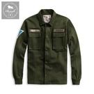 【Roush】 重磅洗水軍裝式貼布外套 ...