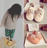 女寶男童綁帶單鞋 超柔軟舒適皮質牛筋軟底童鞋糖果色1-2-3歲秋鞋禮物限時八九折