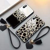 豹紋蘋果x手機殼女iphone個性xs創意max新款7plus玻璃xr全包6s潮牌7p/8p網紅 喵小姐