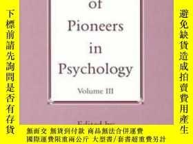 二手書博民逛書店Portraits罕見Of Pioneers In Psychology Vol. 3Y466342 Mich