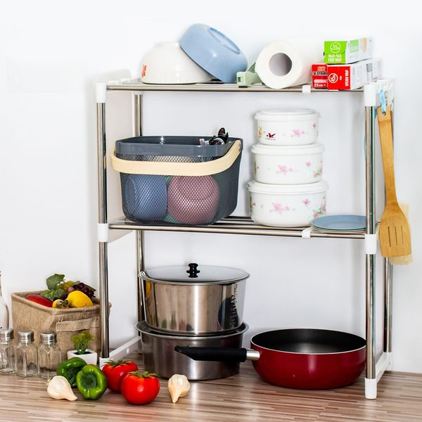 廚房收納架 不鏽鋼多功能萬用伸縮置物架【G028】
