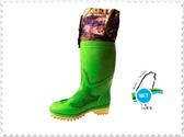 {拾在便宜}台興- 多功能 布套長靴 男長筒 安全釘鞋 釘鞋 雨鞋 帶釘雨鞋 工作 土水 園藝 -2100/綠色