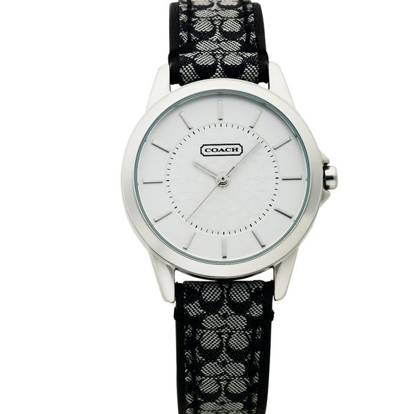 COACH 優雅簡約經典LOGO皮帶腕錶/31mm-黑 (14501524)