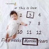新年85折購 攝影道具 嬰兒拍照背景布寶寶創意月份攝影道具毯子新生兒攝影服飾