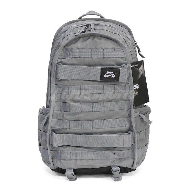 Nike 後背包 SB PRM Backpack 滑板 極限 運動 雙肩背 包包 背包 灰 黑 【PUMP306】 BA5403-065