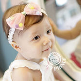 髮帶 嬰兒 寶寶 蝴蝶結 網紗 棉球 髮飾 BW
