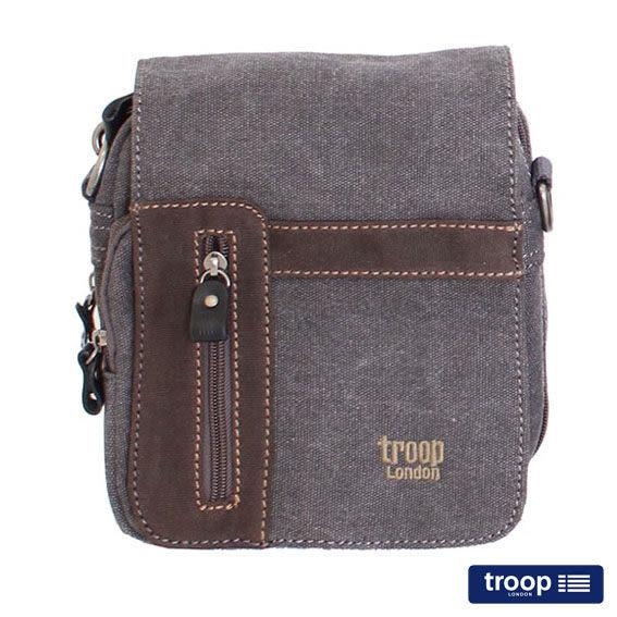 TROOP 英國 帆布包 經典品格CLASSIC斜背包、腰包-2色/TRP0366