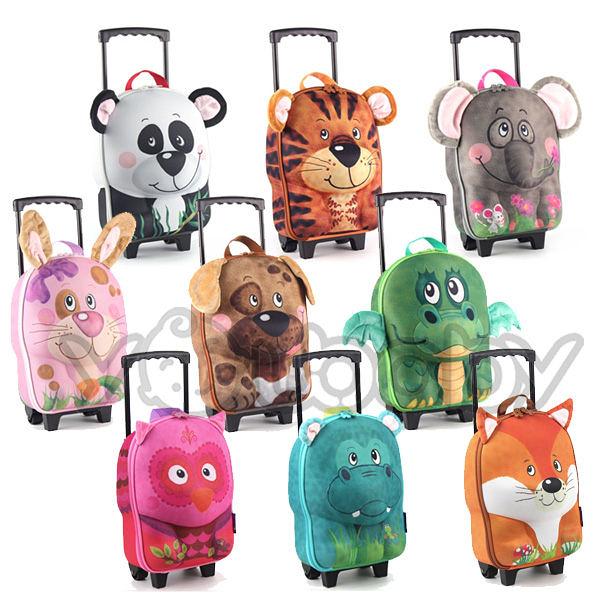 德國okiedog 兒童3D動物造型系列 -拉桿式行李箱﹙送● 貝喜力克 彈跳水壺450ml﹚