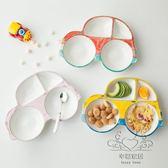 (中秋大放價)寶寶餐盤兒童餐具分格盤陶瓷創意飯盤卡通汽車早餐盤子碗可愛家用