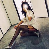 (交換禮物 聖誕)尾牙 日本韓國網紅鏤空漁網襪燙鉆開檔絲襪女情趣免脫久愛性感黑騷長款