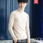 特賣毛衣冬季半高領毛衣男韓版潮流寬鬆男士針織衫加厚素色打底衫學生