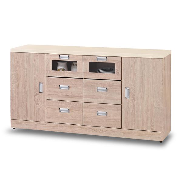 餐櫃【時尚屋】[G17]韋弗利原橡色5.3尺碗盤下櫃G17-A293-2免組裝/免運費/餐櫃