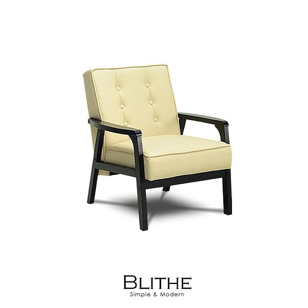 沙發 單人沙發 Blithe立方皮單人沙發(LS/CAD-001-10單人立方皮沙發)【DD House】時尚家居
