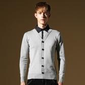 長袖針織衫-假兩件襯衫領時尚百搭男針織毛衣3色73ik66【時尚巴黎】