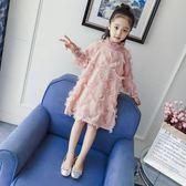 女童秋裝2018新款春秋季中大童連身裙兒童韓版公主裙洋氣長袖裙子