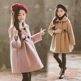 女童毛呢外套 女童毛呢外套秋冬款9歲兒童尼大衣中童小女孩妮子衣服韓版 麗人印象 免運