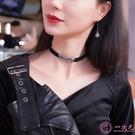 項鍊頸項鍊女choker短款韓國脖子飾品頸帶網紅黑色項鍊潮項圈字母鎖骨項鍊