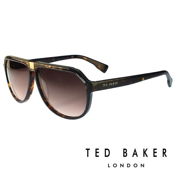 【南紡購物中心】TED BAKER 倫敦質感雅痞俏皮水滴型太陽眼鏡(琥珀) TB1239135