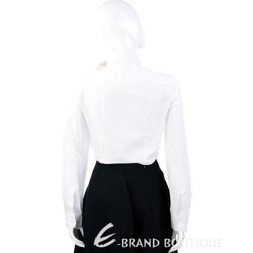 HACHE 白色領結設計長袖襯衫 0940083-20