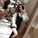 VK精品服飾 韓國風優雅復古花邊拼接氣質...