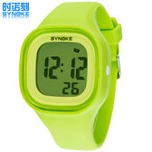 時諾刻防水正韓兒童手錶中學生女孩果凍電子錶夜光LED情侶錶WY三角衣櫥
