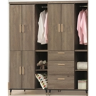 衣櫃 衣櫥 CV-148-12 戴維斯灰橡5.9尺衣櫥【大眾家居舘】