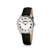 【Folli Follie】Perfect Match羅馬時尚真皮腕錶-低調黑/WF16T013SPS_BK/台灣總代理公司貨享兩年保固