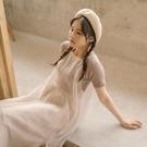 Queen Shop【01096898】細肩帶透膚雪紡外搭背心洋裝*現+預*