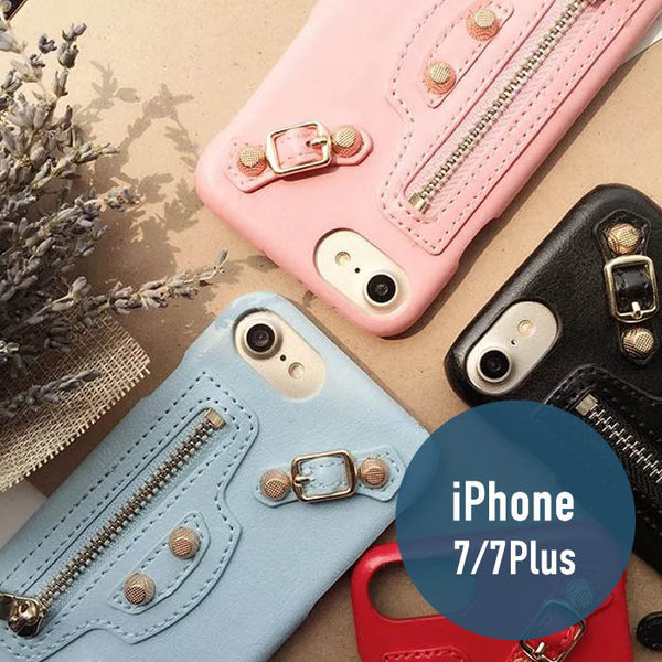 iPhone 7/7Plus 機車包 皮革 皮質 拉鍊 背板 硬殼 手機套 保護套 手機殼 保護殼