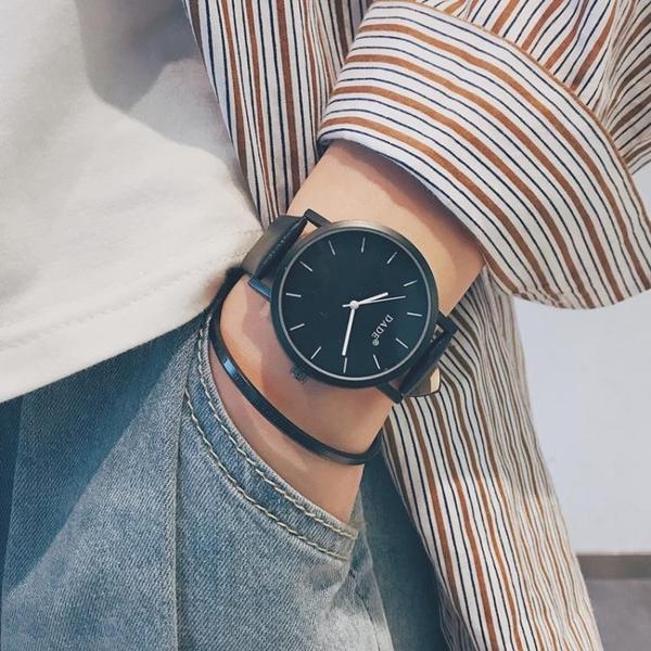 韓國ulzzang青少年手錶男中學生韓版簡約潮流休閒皮帶個性潮男錶  夏季新品