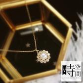 『時空間』群星環繞珍珠鑲鑽造型(14Kgpゴールド)項鍊 -單一款式