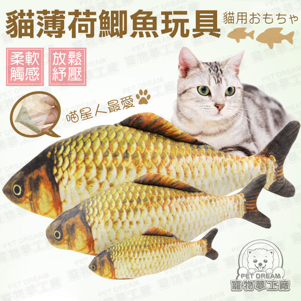 仿真魚 L號 貓玩具 貓薄荷鯽魚玩具 可加購貓薄荷噴霧 木天蓼噴霧 寵物玩具 鯽魚 貓草 貓咪 紓壓