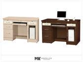 【MK億騰傢俱】ES633-1G艾嫚妮白橡/胡桃4尺電腦桌
