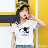 女童棉質t恤短袖2020夏季新款兒童裝潮童上衣中大童學生半袖體恤 TR1422『寶貝兒童裝』