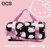 【六折特賣】Converse 手提袋 Hello Kitty Duffel Bag 黑 白 紅 女款 聯名 圓筒包 【ACS】 10008214A01