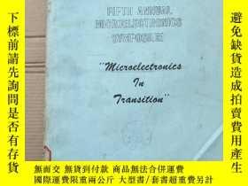 二手書博民逛書店fifth罕見annual microelectronics symposium(P2745)Y173412