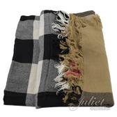 茱麗葉精品【全新現貨】BURBERRY 3841403 英系格紋純羊毛披肩大方巾