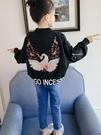 兒童外套 女童棒球服外套春秋裝2019新款夾棉兒童中大童洋氣童裝加厚夾克潮