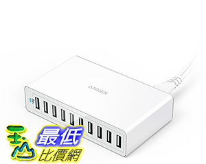 [106美國直購] Anker PowerPort 10(60W 10-Port USB Charging Hub)Multi-Port USB Wall Charger 集線器/充電器