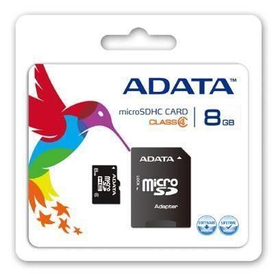 威剛 ADATA microSDHC 8GB Class4 記憶卡含轉卡