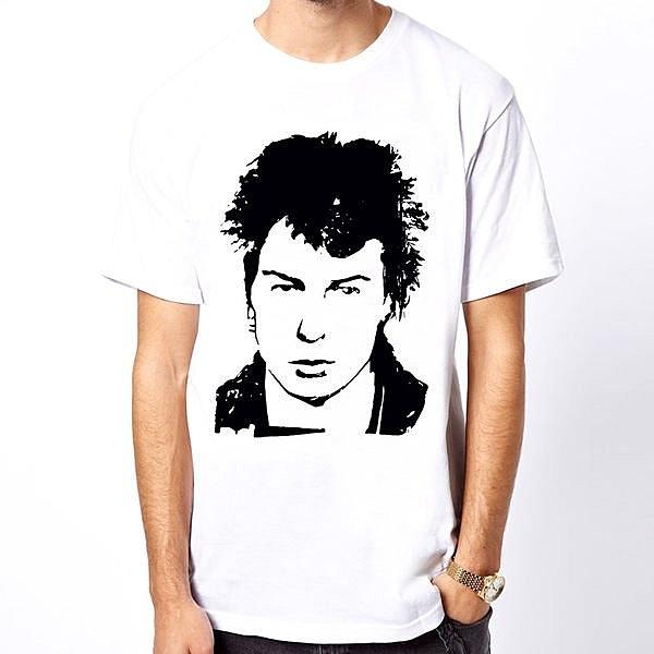 Sid Vicious-head 短袖T恤-2色 性手槍punk潮流搖滾樂團趣味幽默