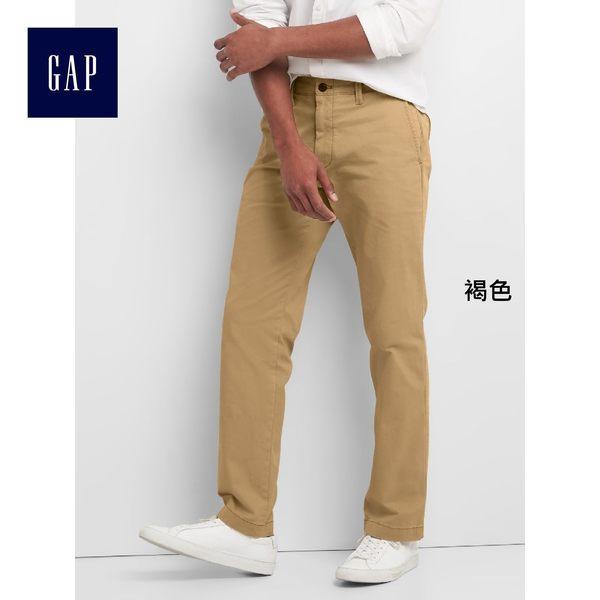 Gap男裝 復古水洗彈力直筒男士卡其褲 中腰休閒長褲男 844140