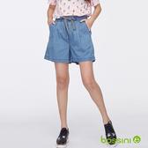 時尚寬版短褲01藍-bossini女裝