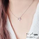 Lilac.925純銀滿鑽許願樹短項鍊鎖骨鏈【s376】911 SHOP