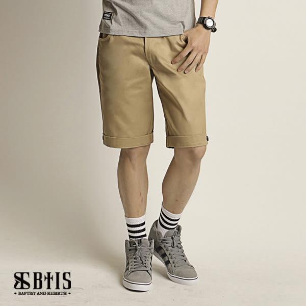 【BTIS】反摺短褲 / 卡其色
