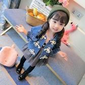 限定款厚外套 快速出貨春秋免運正韓兒童公主女寶寶洋氣小童潮3歲女童牛仔外套1秋裝